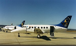 Virgin Australia Regional Airlines - Two Skywest British Aerospace Jetstream 31s at Perth Airport in the mid-1990s