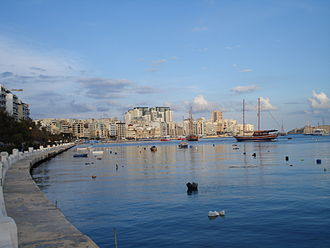 Marsamxett Harbour - View of Marsamxett from Sliema