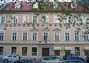 Slovene Society - The seat of the Slovene Society at Congress Square in Ljubljana