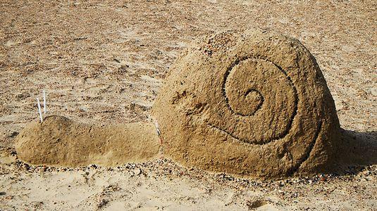 Snail make of Sand.JPG