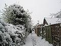 Snowy footpath between Langstone Harbour and Mill Lane - geograph.org.uk - 752516.jpg