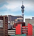 Soccer ball on Hillbrow Tower 2010.jpg