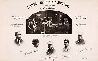 Henri Casadesus - Image: Société des Instruments anciens, fondée par Casadesus