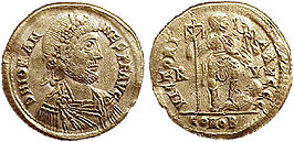 Solidus van Iohannes.Bron:CNG coins