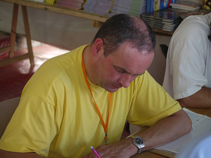 Photograph taken during the 2009 edition of the Comic Strip Festival of Sollies Ville in France.