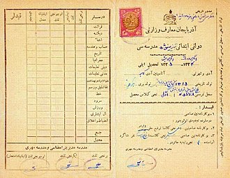 Azerbaijan People's Government - Image: South Azeri documents