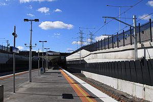 South Morang railway station - Image: South Morang station from platform level