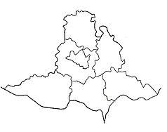Mapa lokalizacyjna kraju południowomorawskiego