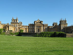 Woodstock, Oxfordshire - South front of Blenheim Palace