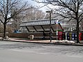 South side bus stop at Newton Corner, March 2013.JPG