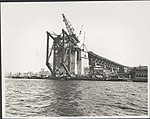 Southern approach to Sydney Harbour Bridge from the water, 1929 (8283751688).jpg