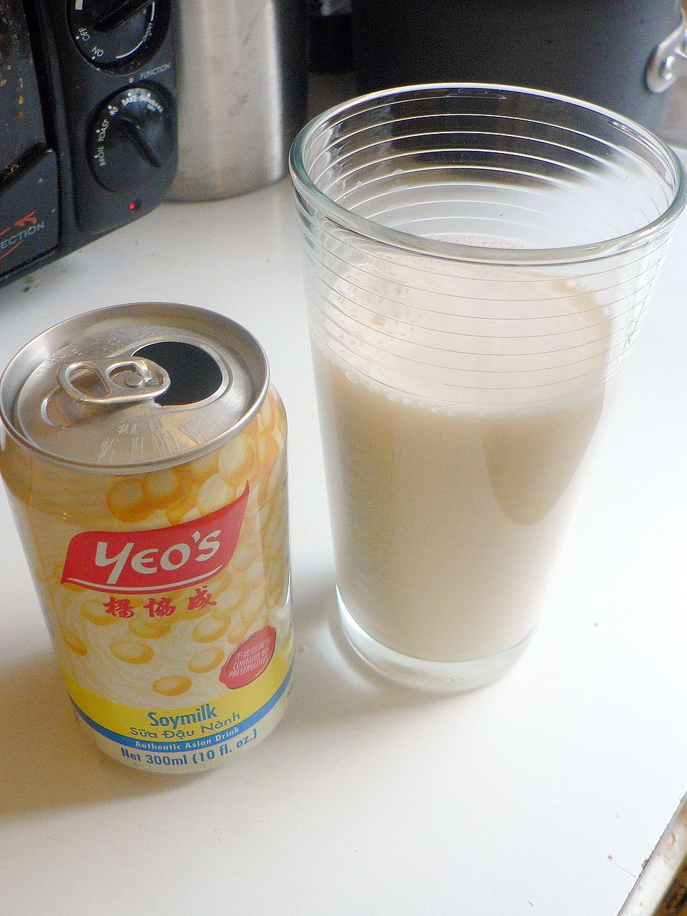 Soymilk can and glass 2
