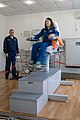 Soyuz MS-12 crew member Christina Koch tests her vestibular system.jpg
