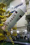 Soyuz TMA-19M spacecraft in the integration facility (3).jpg