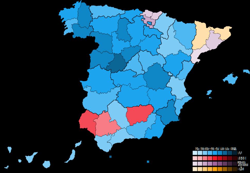 SpainProvinceMapCongress2016