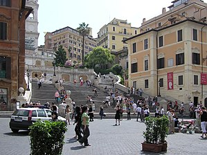 The Spanish Steps, seen from Piazza di Spagna