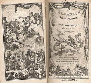 Les Spectacles de Paris - Les Spectacles de Paris, 1753.