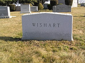 Spencer Wishart - Image: Spencer Wishart Tombstone February 2012