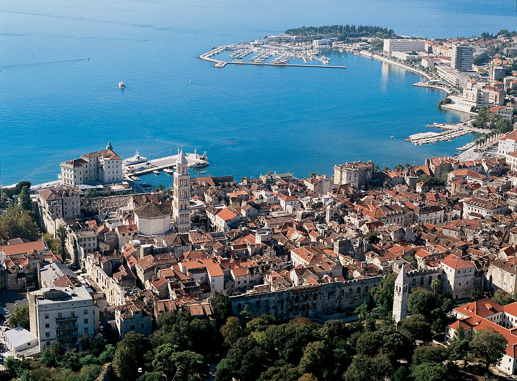 Split harbour and old town