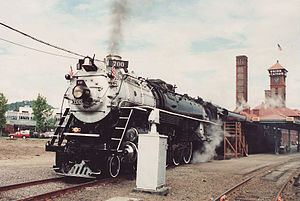 National Railway Historical Society - SP&S #700 (pictured in 1991 at Portland, Oregon), pulled an excursion train for the 2005 NRHS national convention there