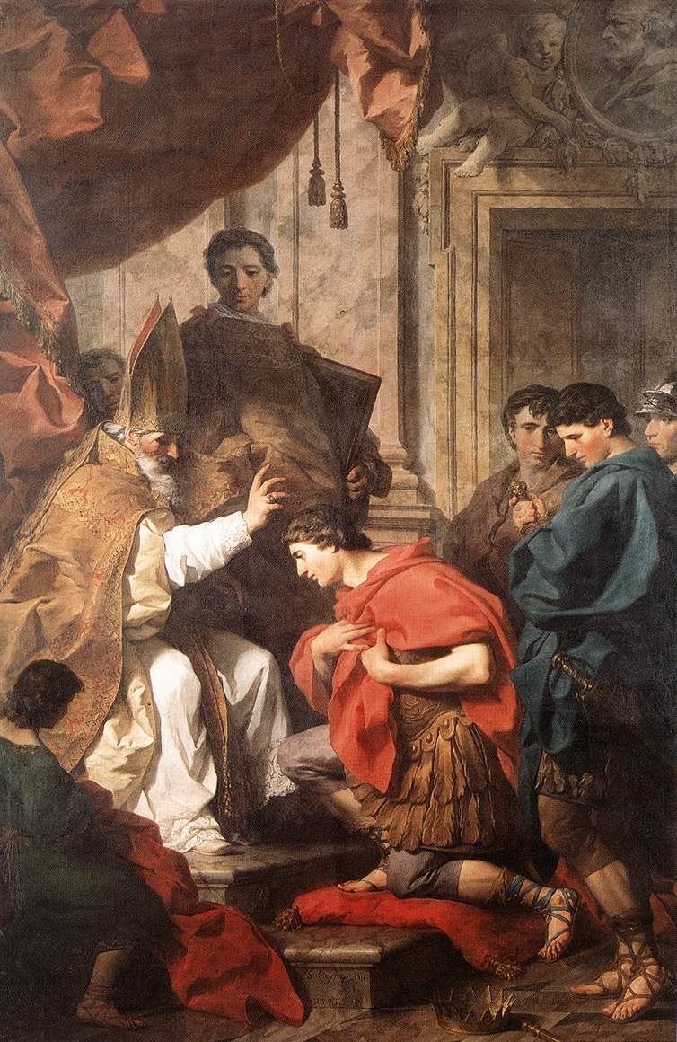 St Ambrose Converting Theodosius