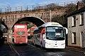 St Davids Viaduct - Dartline YT17HVX and Stagecoach 15893 (WA13GDX).JPG