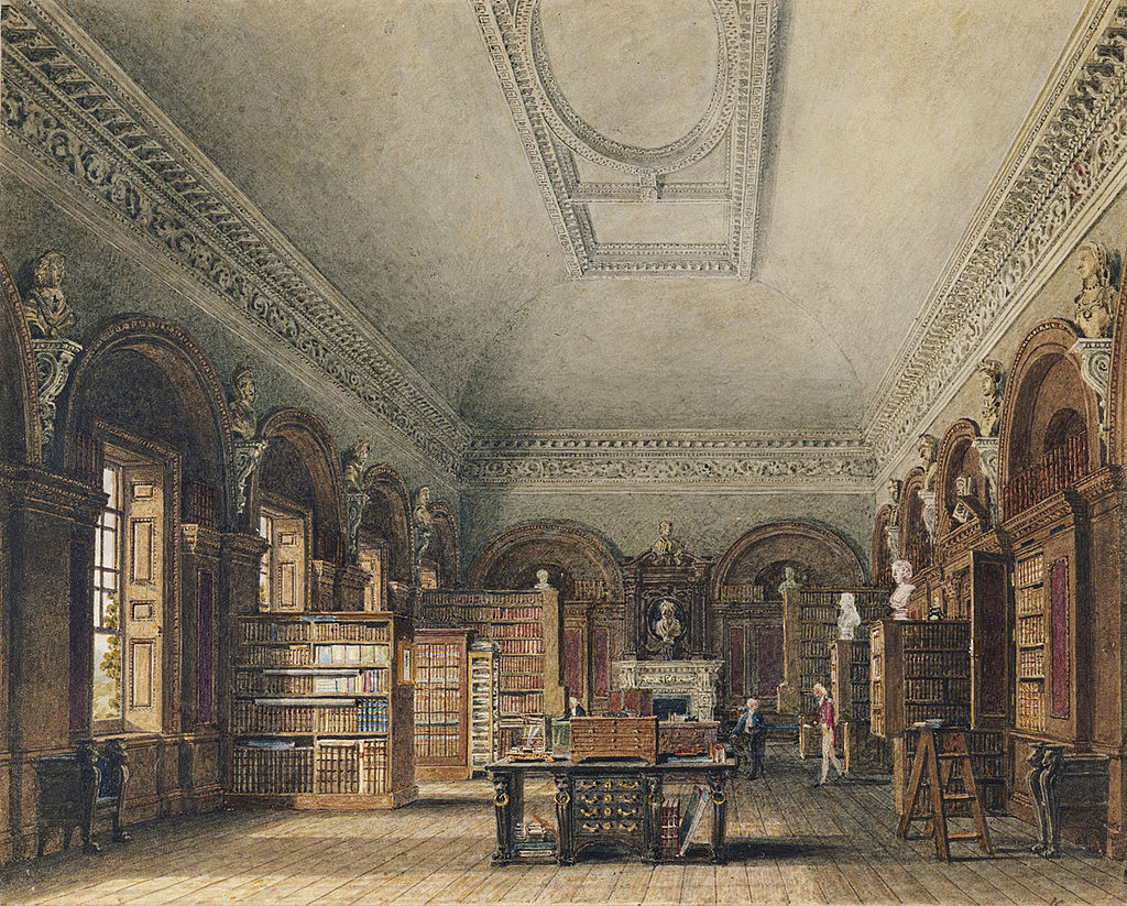 St James's Palace, Queen's Library, by Charles Wild, 1819 - royal coll 922168 313725 ORI 2.jpg