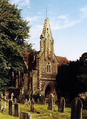 St John the Evangelist Church, Woodley - Image: St John the Evangelist, Woodley geograph.org.uk 1525601