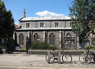 Norwich Arts Centre, opened in 1977, on St. Benedict's Street St Swithin's church in St Benedicts Street, Norwich.jpg