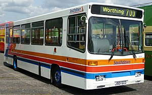 Stagecoach Group - Stagecoach Southdown Alexander Dash bodied Dennis Dart in the previous livery