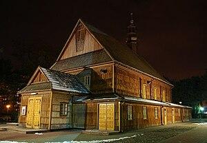Stalowa Wola - Old Church of Saint Florian, patron saint of Poland, in Stalowa Wola