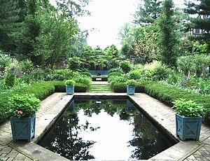 Ellen Biddle Shipman - The reflecting pool at Stan Hywet Hall, Akron, Ohio, 1929