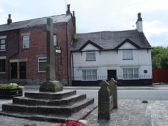 Standish, Greater Manchester - Cross and stocks, Market Place