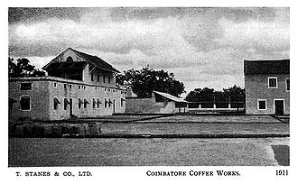Coimbatore District (Madras Presidency) - View of the Coimbatore Stanes Coffee Curing Works in 1911