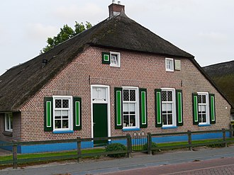 Staphorst - Staphorster farmhouse in authentic colors