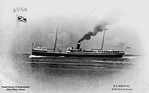 Australian United Steam Navigation Company - Aramac of the Australian United Steam Navigation Company, built by William Denny and Brothers in Glasgow in 1889 and scuttled in 1929 or 1930