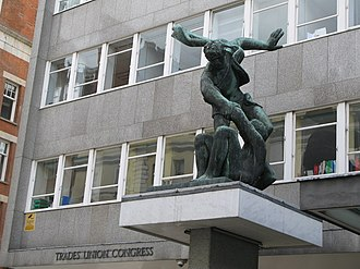 Congress House - Image: Statue above the entrance of Congress House, Great Russell Street, WC1 geograph.org.uk 1289838