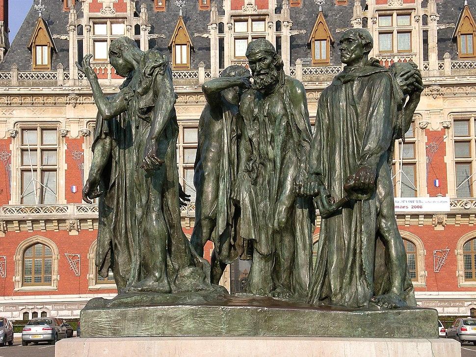 Statue bourgeois calais rodin