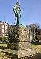 """Statue of composer Edvard Grieg by Ingebrikt Vik (1917) in Byparken (""""City park"""") in Bergen, Norway. Photo 2018-03-15 a.jpg"""