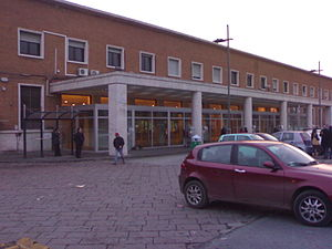 Caserta railway station - View of the passenger building.