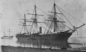 USS Richmond (1860) - USS Richmond at Baton Rouge, 1863