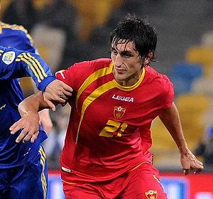 Stefan Savić - Savić playing against Ukraine in 2012