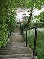 Steps to a footbridge over Hazledene Burn - geograph.org.uk - 1324341.jpg