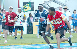 Young (8) and Michael Irvin (88) playing in the ESPN Pro Bowl Skills  Challenge in 2006 dc42a6515