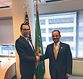 Steven Mnuchin and Nayef al-Hajraf in April 2019.jpg