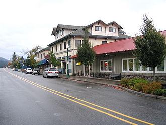 Stevenson, Washington - Main Street in Stevenson