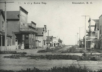 Steveston, British Columbia - A street at Steveston, B.C.