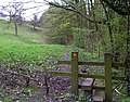 Stile on Hocker Lane, Shawcross - geograph.org.uk - 158358.jpg