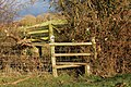 Stile on the footpath to Barby near Tiltup's Holt Farm (2) - geograph.org.uk - 1639697.jpg