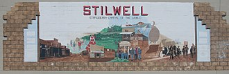 "Stilwell, Oklahoma - Mural on a wall in Stilwell: ""Strawberry Capital of the World"""